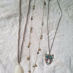 Long necklaces 1 long and one medium